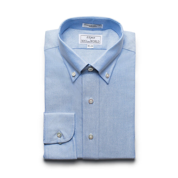 Blue Oxford Button-down Collar Shirt