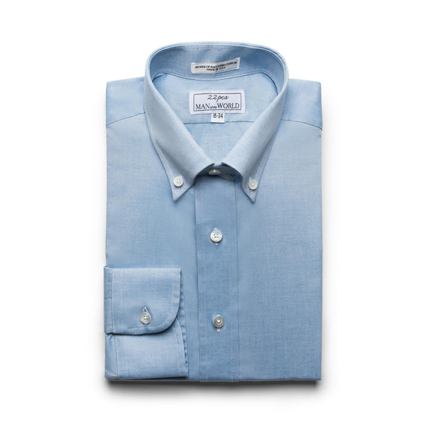 Blue Pinpoint Button-down Collar Shirt