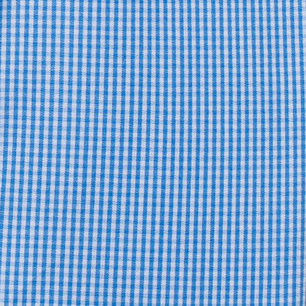 Blue Gingham Button-down Collar Shirt