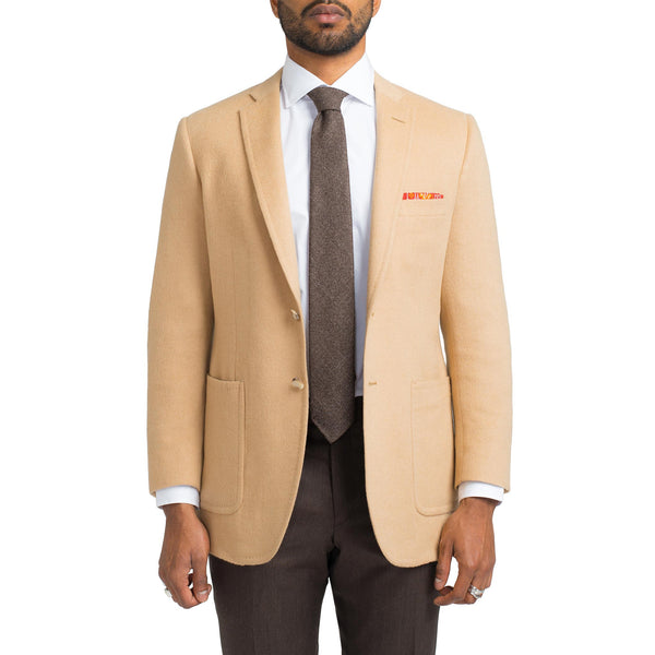 Heather Camel Cashmere / Wool Blend Sport Coat