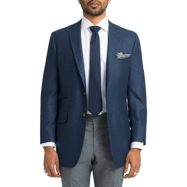Heather Navy Cashmere / Wool Blend Sport Coat
