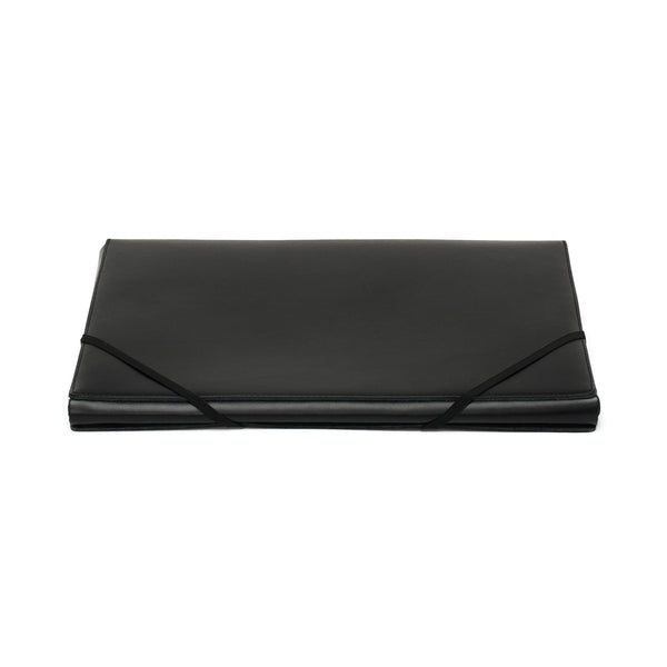 Leather A4 Covered Folder - Black