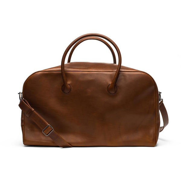 Leather Bond Weekend Bag - Chestnut