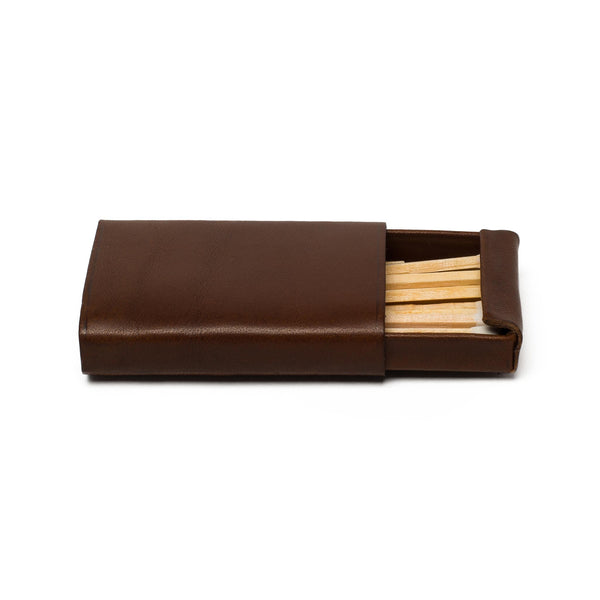 Leather Match Box - Chestnut