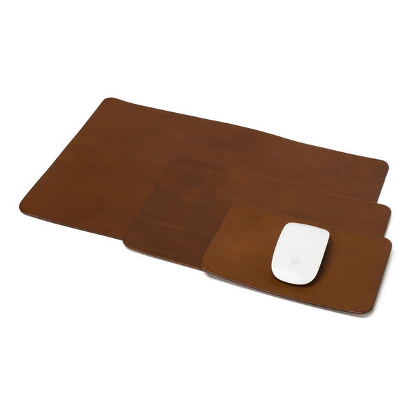 Chestnut Leather Mouse Pad
