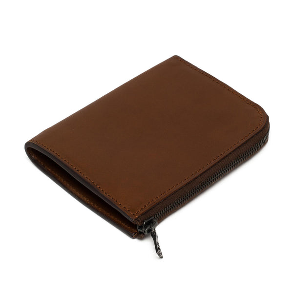 Leather Zip Wallet - Chestnut