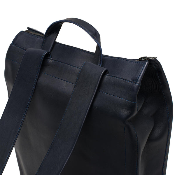 Standard Leather Backpack - Navy