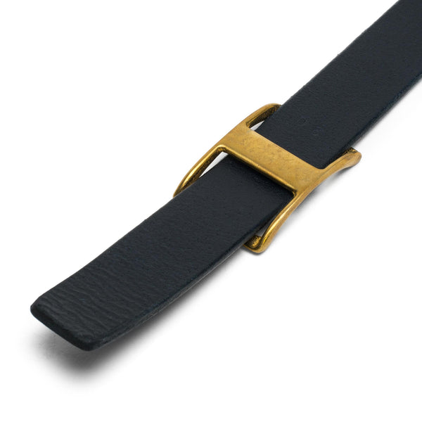 Medium Conway Buckle Belt - Dark Navy