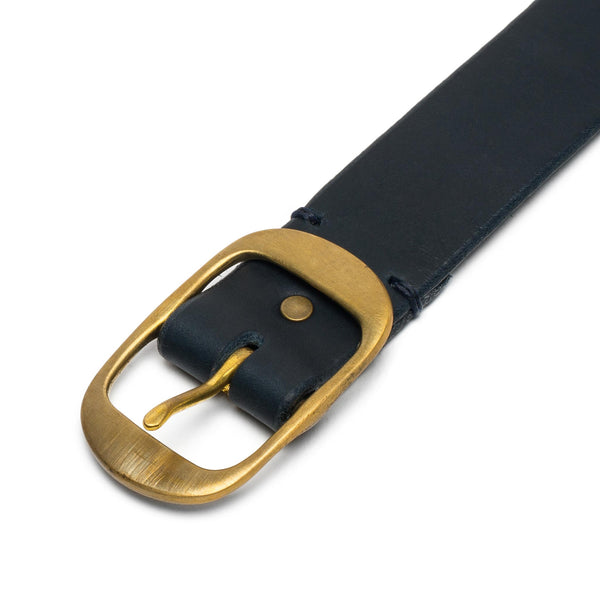 Medium Oval Buckle Belt - Dark Navy