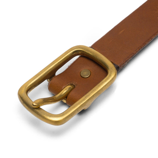 Small Square Buckle Belt - Tan
