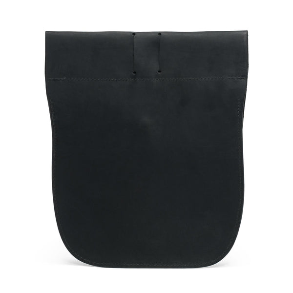 Soft Leather Belt Pouch - Black