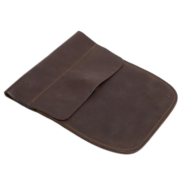 Soft Leather Belt Pouch - Walnut