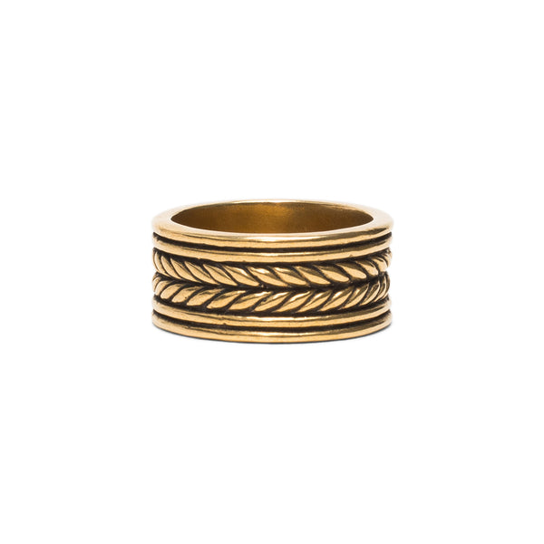 Rope Band Ring - Brass