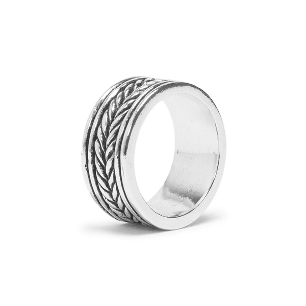 Rope Band Ring - Silver