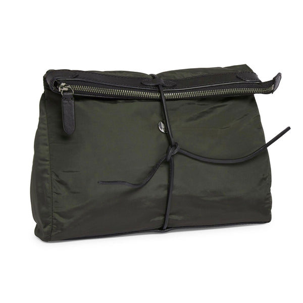 Carry - Beluga Grey Nylon & Black Leather