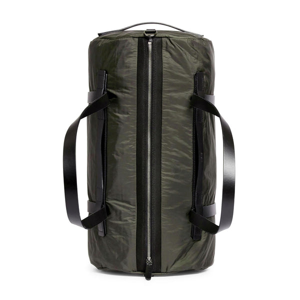 Challenge Duffle - Beluga Grey Nylon & Black Leather