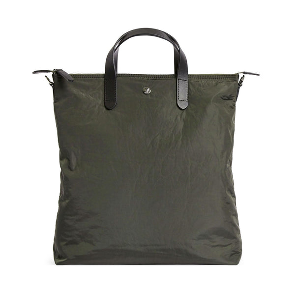 Original Shopper - Pine Green Wool & Dark Brown Leather