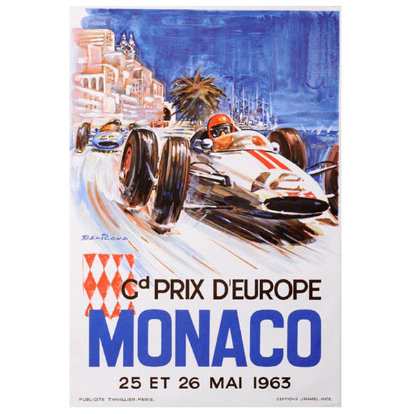 VINTAGE - Monaco 1963 Poster - MAN of the WORLD Online Destination for Men's Lifestyle