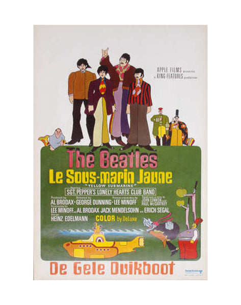 VINTAGE - Belgian Yellow Submarine Poster - MAN of the WORLD Online Destination for Men's Lifestyle
