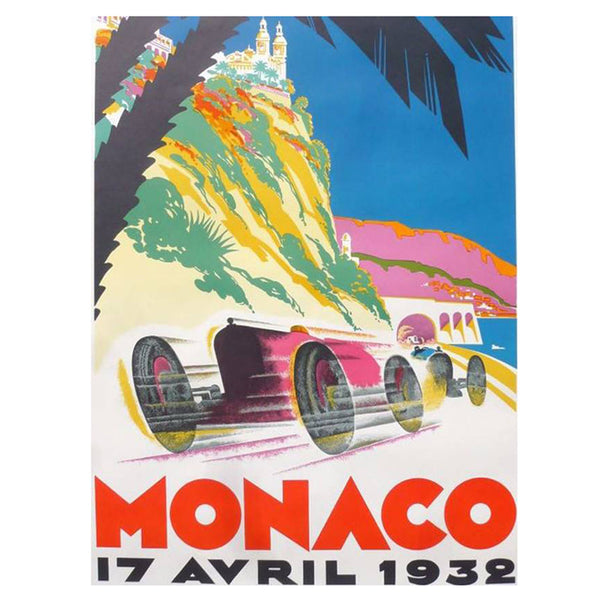 VINTAGE - Monaco 1932 Poster - MAN of the WORLD Online Destination for Men's Lifestyle