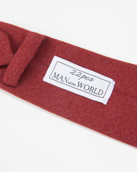 Wool Tie-00181 Red