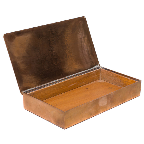 Vintage (Wendell August) - Wood Lined Bronze Box - MAN of the WORLD Online Destination for Men's Lifestyle - 1