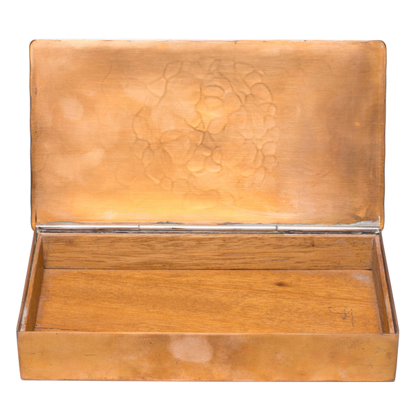 Vintage (Wendell August) - Wood Lined Bronze Box - MAN of the WORLD Online Destination for Men's Lifestyle - 3