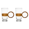 Aubock - Mid Century Modern Rattan Drinking Glasses - MAN of the WORLD Online Destination for Men's Lifestyle - 1