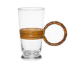 Aubock - Mid Century Modern Rattan Drinking Glasses - MAN of the WORLD Online Destination for Men's Lifestyle - 2