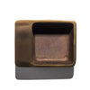 Aubock - Patinated Brass Square Ashtray / Catchall 7 cm - MAN of the WORLD Online Destination for Men's Lifestyle - 3