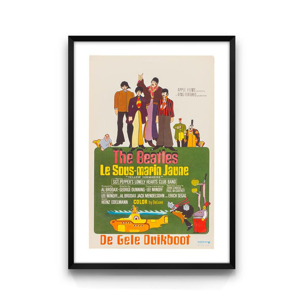 Belgian Yellow Submarine Poster