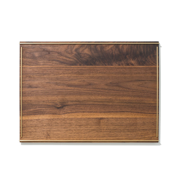 MAN OF THE WORLD - Black Walnut Tray with Brass Inlay - Large - MAN of the WORLD Online Destination for Men's Lifestyle - 1