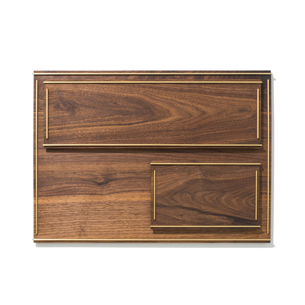MAN OF THE WORLD - Black Walnut Tray with Brass Inlay - Large - MAN of the WORLD Online Destination for Men's Lifestyle - 5