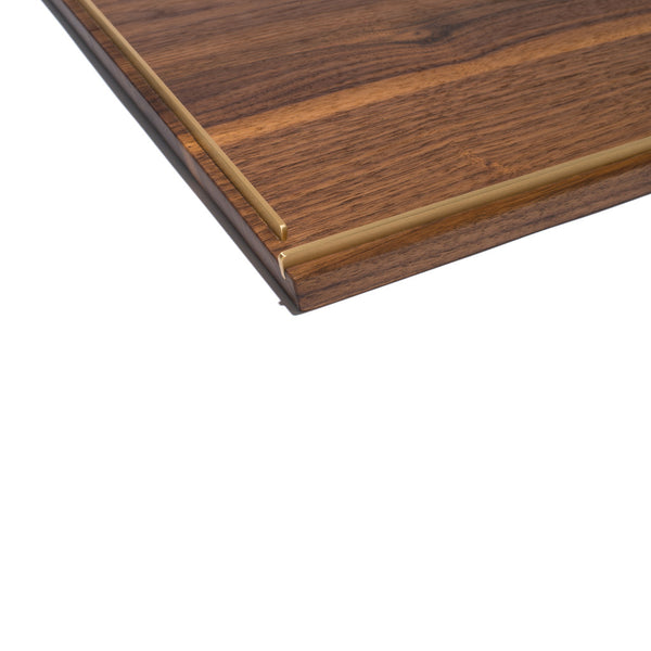 MAN OF THE WORLD - Black Walnut Tray with Brass Inlay - Large - MAN of the WORLD Online Destination for Men's Lifestyle - 4