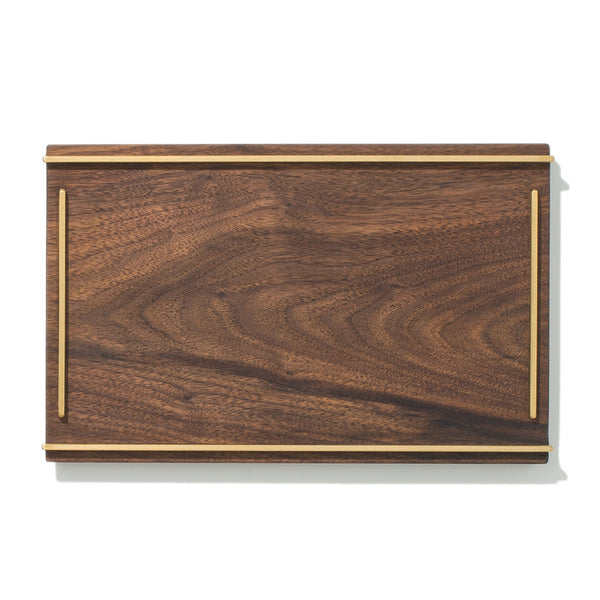 MAN OF THE WORLD - Black Walnut Tray with Brass Inlay - Small - MAN of the WORLD Online Destination for Men's Lifestyle - 1
