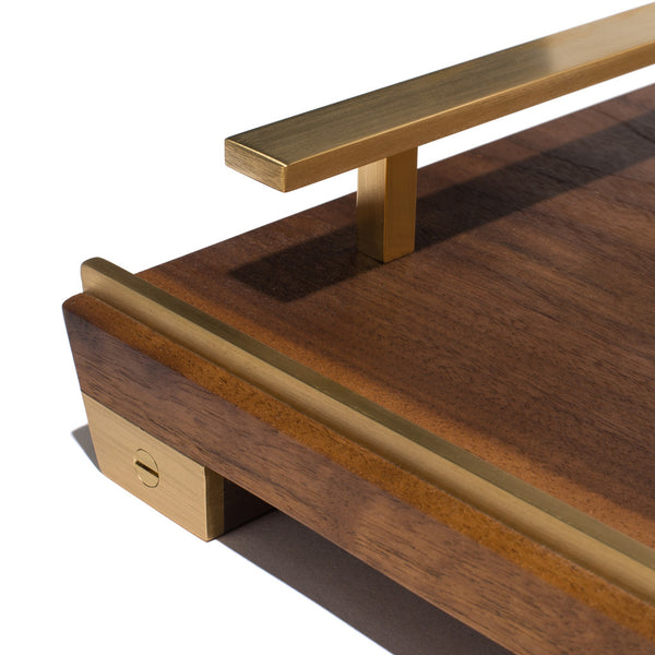 MAN OF THE WORLD - Black Walnut Tray with Brass Handles - MAN of the WORLD Online Destination for Men's Lifestyle - 6