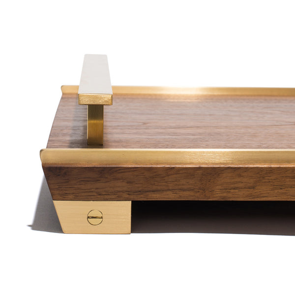 MAN OF THE WORLD - Black Walnut Tray with Brass Handles - MAN of the WORLD Online Destination for Men's Lifestyle - 5