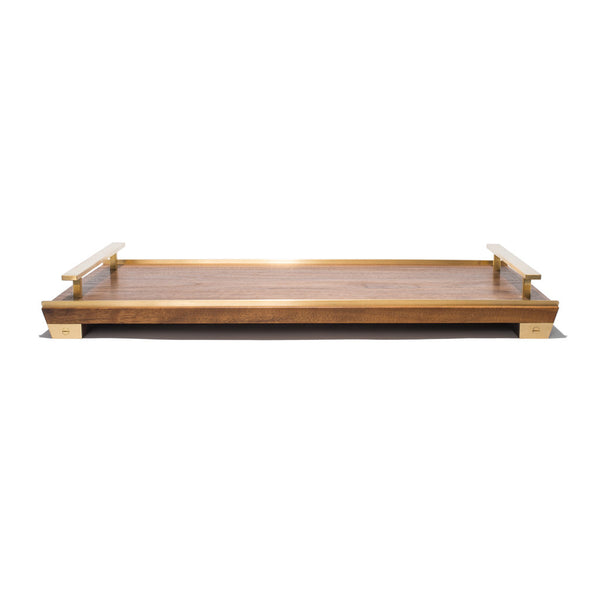 MAN OF THE WORLD - Black Walnut Tray with Brass Handles - MAN of the WORLD Online Destination for Men's Lifestyle - 3