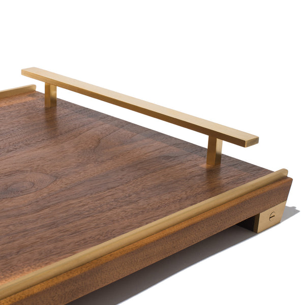 MAN OF THE WORLD - Black Walnut Tray with Brass Handles - MAN of the WORLD Online Destination for Men's Lifestyle - 4