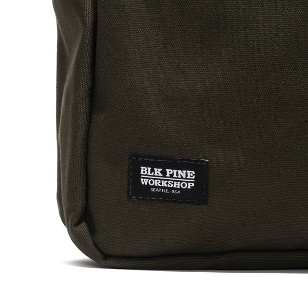 BLK PINE WORKSHOP - Leather & Canvas Briefcase - Olive - MAN of the WORLD Online Destination for Men's Lifestyle - 7