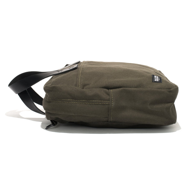 BLK PINE WORKSHOP - Leather & Canvas Briefcase - Olive - MAN of the WORLD Online Destination for Men's Lifestyle - 3