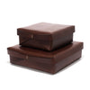 Leather Square Boxes - Dark Brown