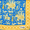 Drake's - Indian Elephant Print Silk Pocket Square - Blue - MAN of the WORLD Online Destination for Men's Lifestyle - 2
