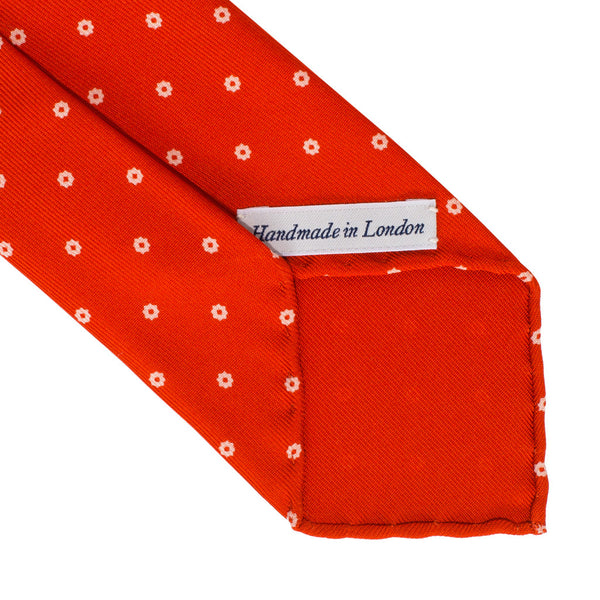 Drake's - Silk Printed Foulard Tie - Red & White - MAN of the WORLD Online Destination for Men's Lifestyle - 3