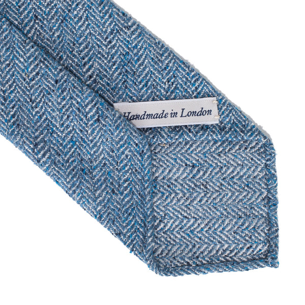Drake's - SILK WOVEN DONEGAL STRIPE TIE - LIGHT BLUE - MAN of the WORLD Online Destination for Men's Lifestyle - 3