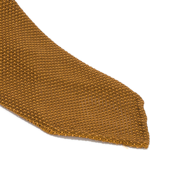 Drake's - Silk Woven Grenadine Tie - Gold - MAN of the WORLD Online Destination for Men's Lifestyle - 2