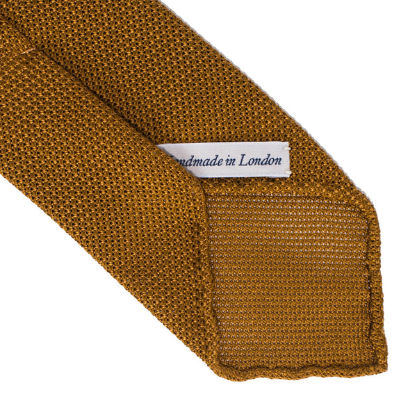 Drake's - Silk Woven Grenadine Tie - Gold - MAN of the WORLD Online Destination for Men's Lifestyle - 3