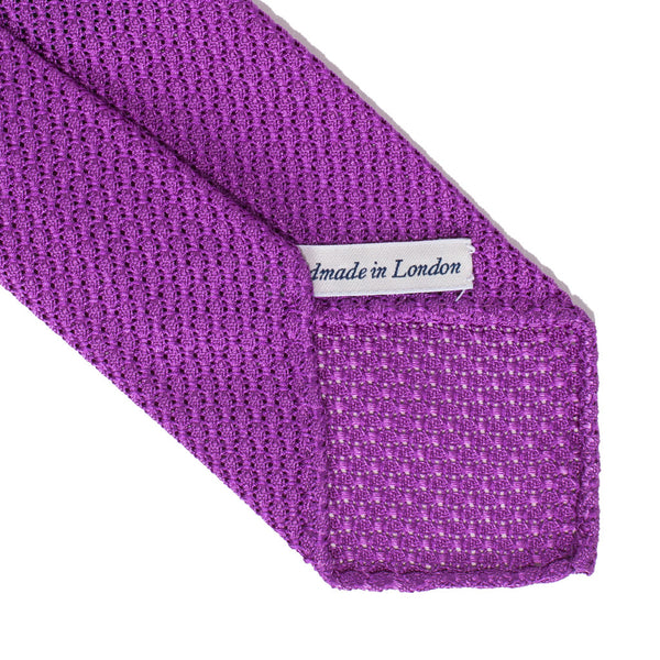 Drake's - Silk Woven Grenadine Tie - Lilac - MAN of the WORLD Online Destination for Men's Lifestyle - 3