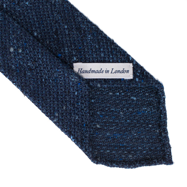 Drake's - Silk Woven Grenadine Tie - Speckled Navy - MAN of the WORLD Online Destination for Men's Lifestyle - 3