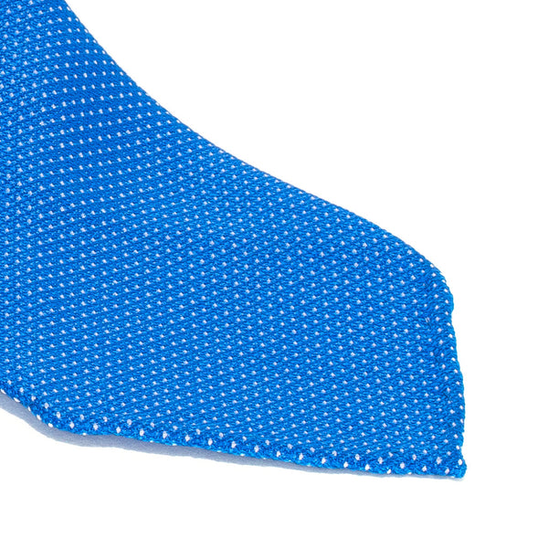 Drake's - Silk Woven Grenadine Tie - Blue & White - MAN of the WORLD Online Destination for Men's Lifestyle - 2